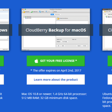 CloudBerry Lab Offering Free License for World Backup Day!