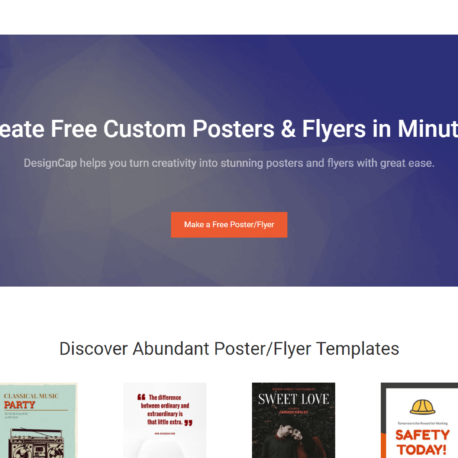 DesignCap Free Online Poster Flyer Maker Review