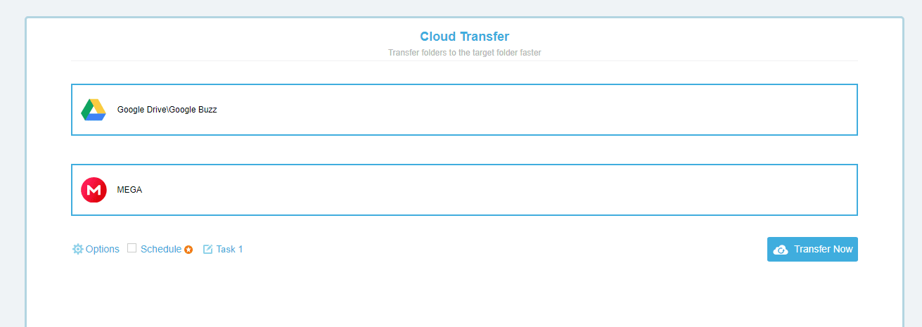 Setting up Cloud Transfer